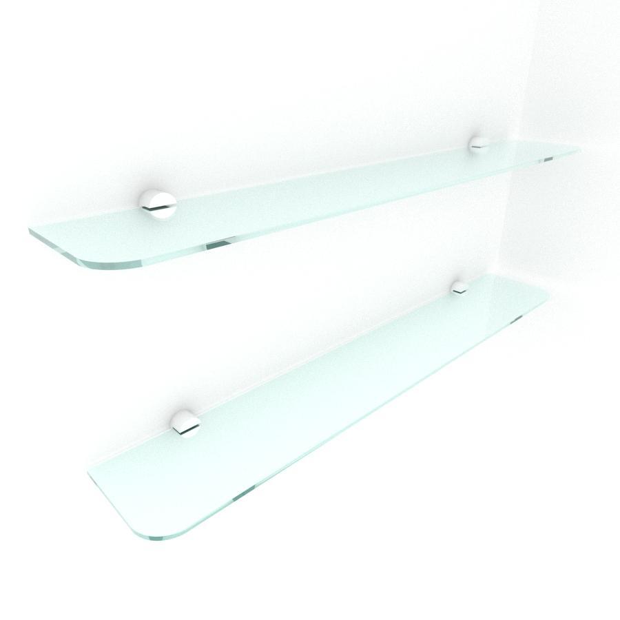 kit com 2 Prateleira de vidro temperado para escritorio 60(C)x8(P)cm