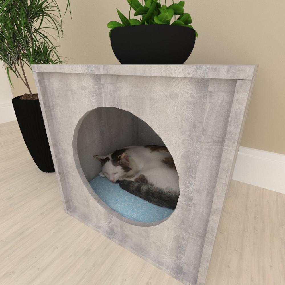 Mesa de cabeceiraCasinha caminha para gato mdf Rustico