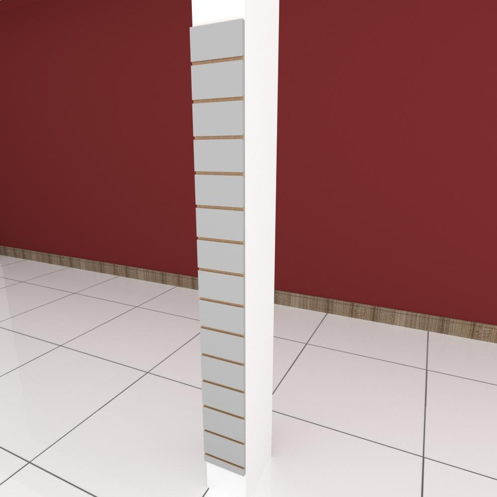 Painel canaletado para pilar cinza cristal 1 peça 20(L)x180(A)cm