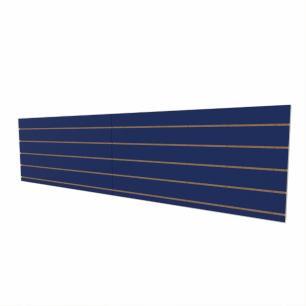 Expositor canaletado 18mm Azul Escuro Soft altura 60 cm comp 240 cm