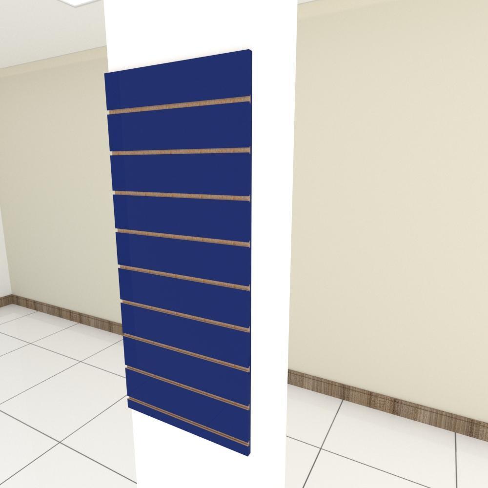 Painel canaletado para pilar azul escuro 1 peça 50(L)x120(A)cm