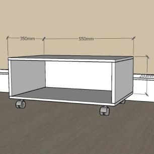 Mesa de centro simples em mdf Amadeirado