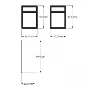 Prateleira industrial para Sala aço cor preto prateleiras 30 cm cor branca modelo ind03bsl