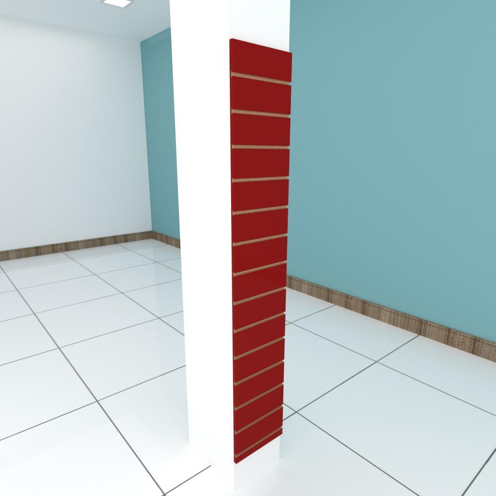 Painel canaletado para pilar vermelho escuro 1 peça 30(L)x180(A)cm