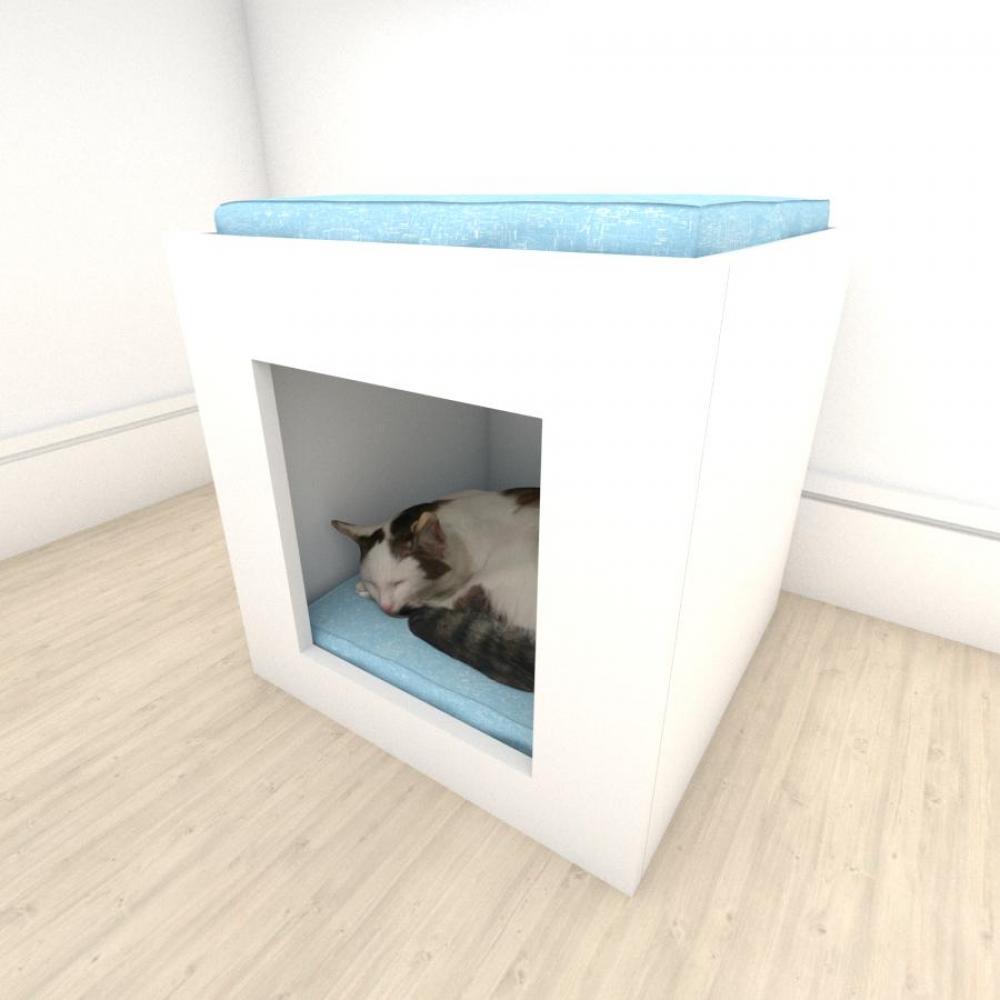 camapet para Gato em mdf Branco