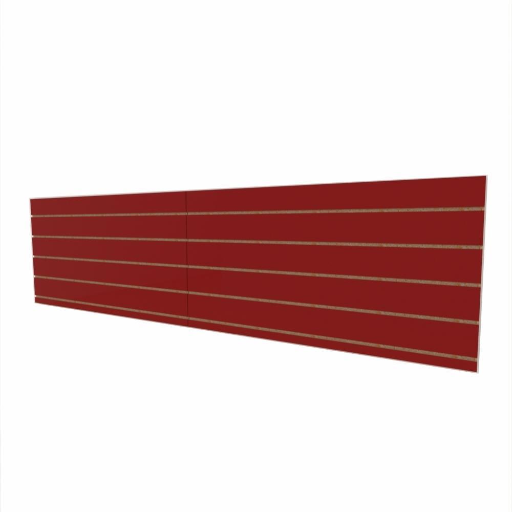 Expositor canaletado 18mm Vermelho Escuro Tx altura 60 cm comp 240 cm