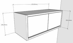 Armario para cozinha ou banheiro amadeirado escuro