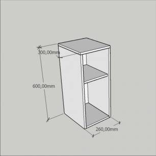 Mini estante para escritório em mdf preto com branco