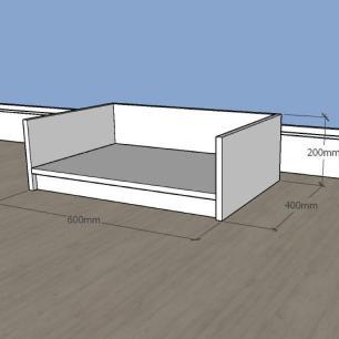 Mesa de cabeceira bercinho casinha para Gato em mdf Branco