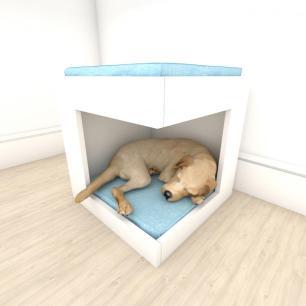 Mesa de cabeceira caminha casinha para cachorro em mdf Branco