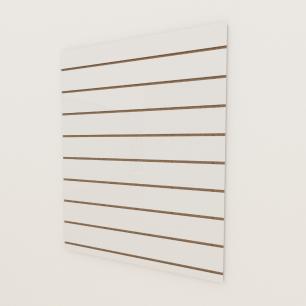 Painel canaletado 18mm Branco Texturizado altura 120 cm comp 90 cm