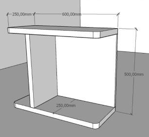 Mesa de cabeceira moderna Cinza