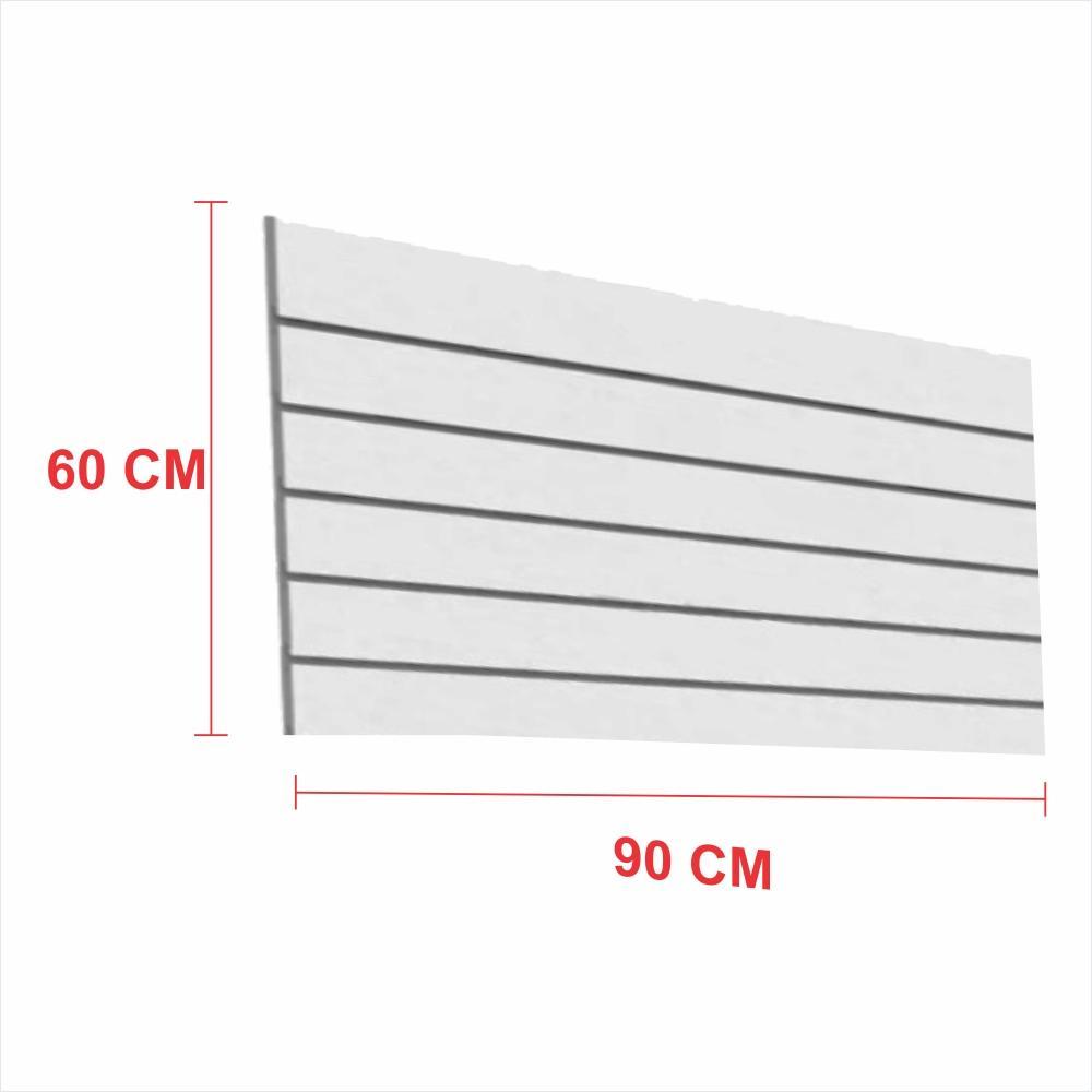 Painel canaletado 18mm cinza altura 60 cm comp 90 cm