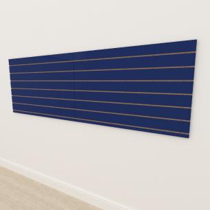 Painel canaletado 18mm Azul Escuro Soft altura 90 cm comp 270 cm