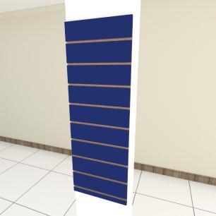 Painel canaletado para pilar azul escuro 1 peça 40(L)x120(A)cm