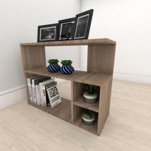 Estante para livros formato simples em mdf Amadeirado