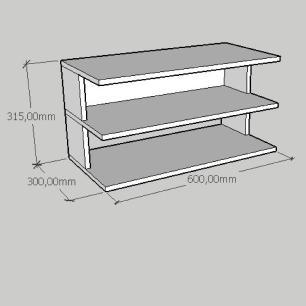 Mesa de cabeceira suspensa simples em mdf amadeirado