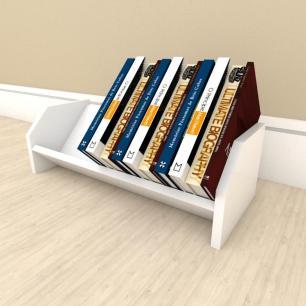 Prateleira para livros em mdf Branco
