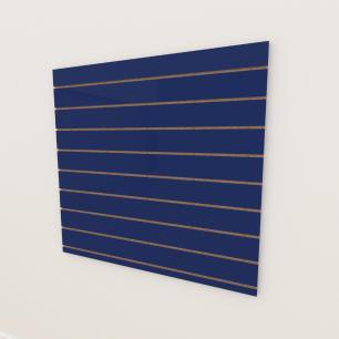 Painel canaletado 18mm Azul Escuro Soft altura 120 cm comp 120 cm