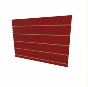 Expositor canaletado 18mm Vermelho Escuro Tx altura 60 cm comp 90 cm