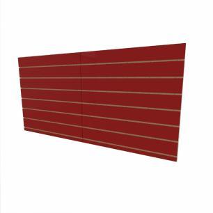 Expositor canaletado 18mm Vermelho Escuro Tx altura 90 cm comp 180 cm