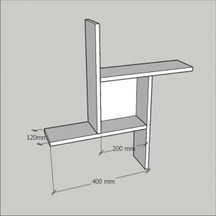 Kit com 2 nichos multi uso, moderno, todos em mdf Cinza