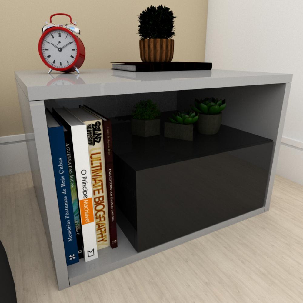 Estante de Livros moderna preto com cinza