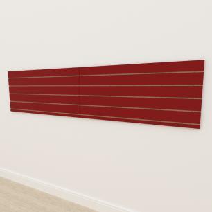Painel canaletado 18mm Vermelho Escuro Tx altura 60 cm comp 270 cm