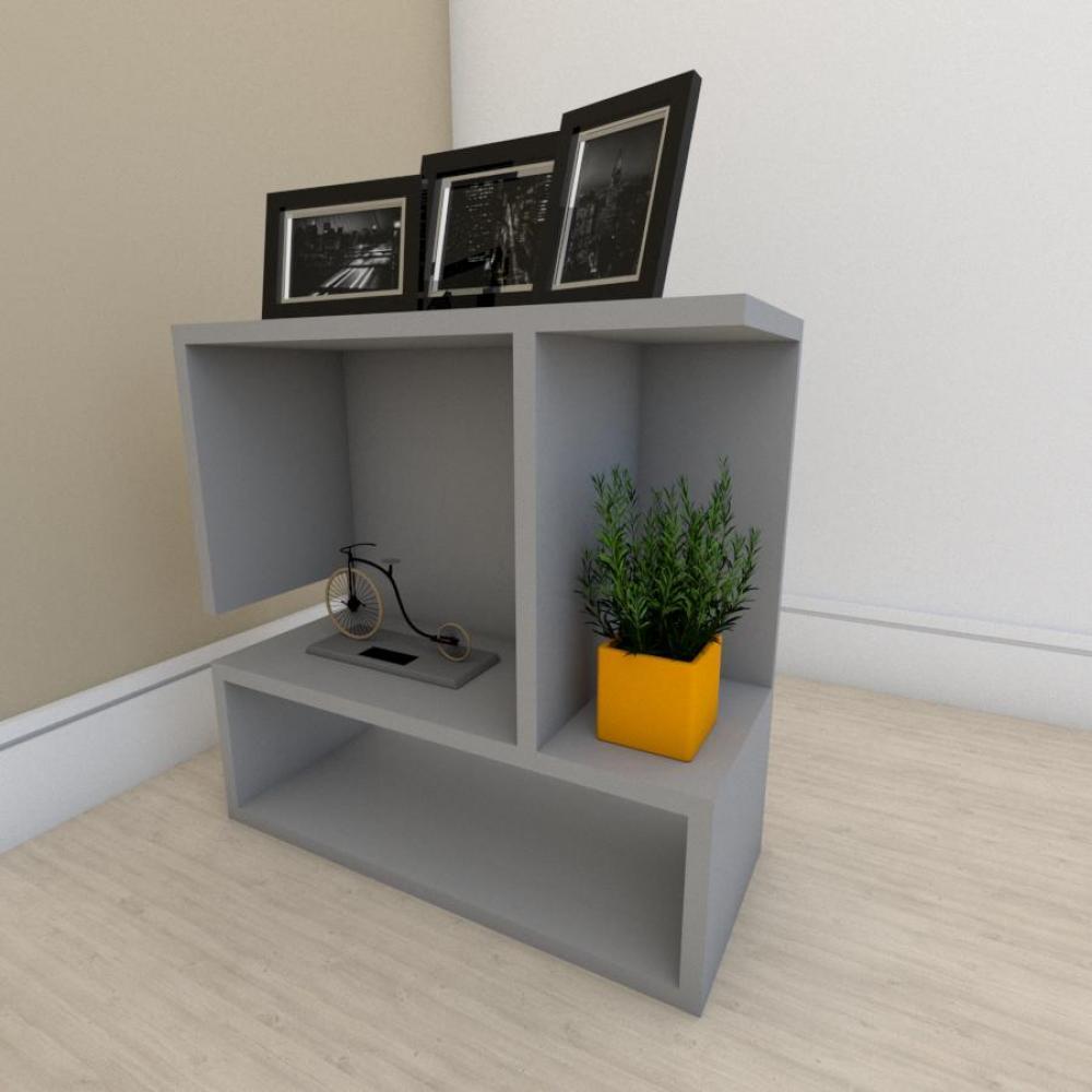Estante para livros simples em mdf Cinza