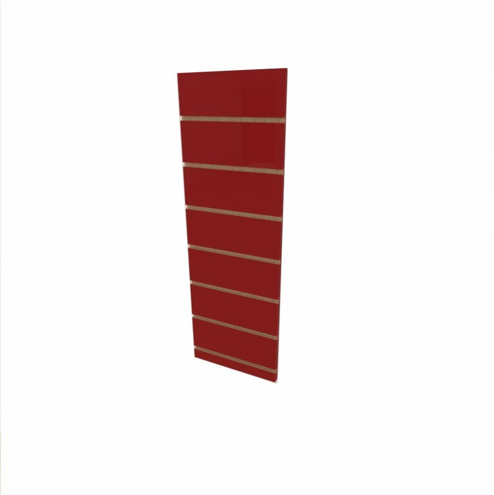 Expositor canaletado 18mm Vermelho Escuro Tx altura 90 cm comp 30 cm