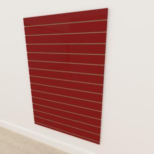 Painel canaletado 18mm Vermelho Escuro Tx altura 180 cm comp 120 cm