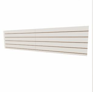 Expositor canaletado 18mm Branco Texturizado altura 60 cm comp 270 cm