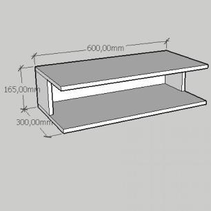 Rack pequeno Moderno simples em mdf cinza