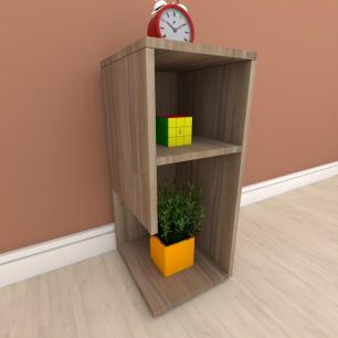 Estante escritório formato simples em mdf Amadeirado