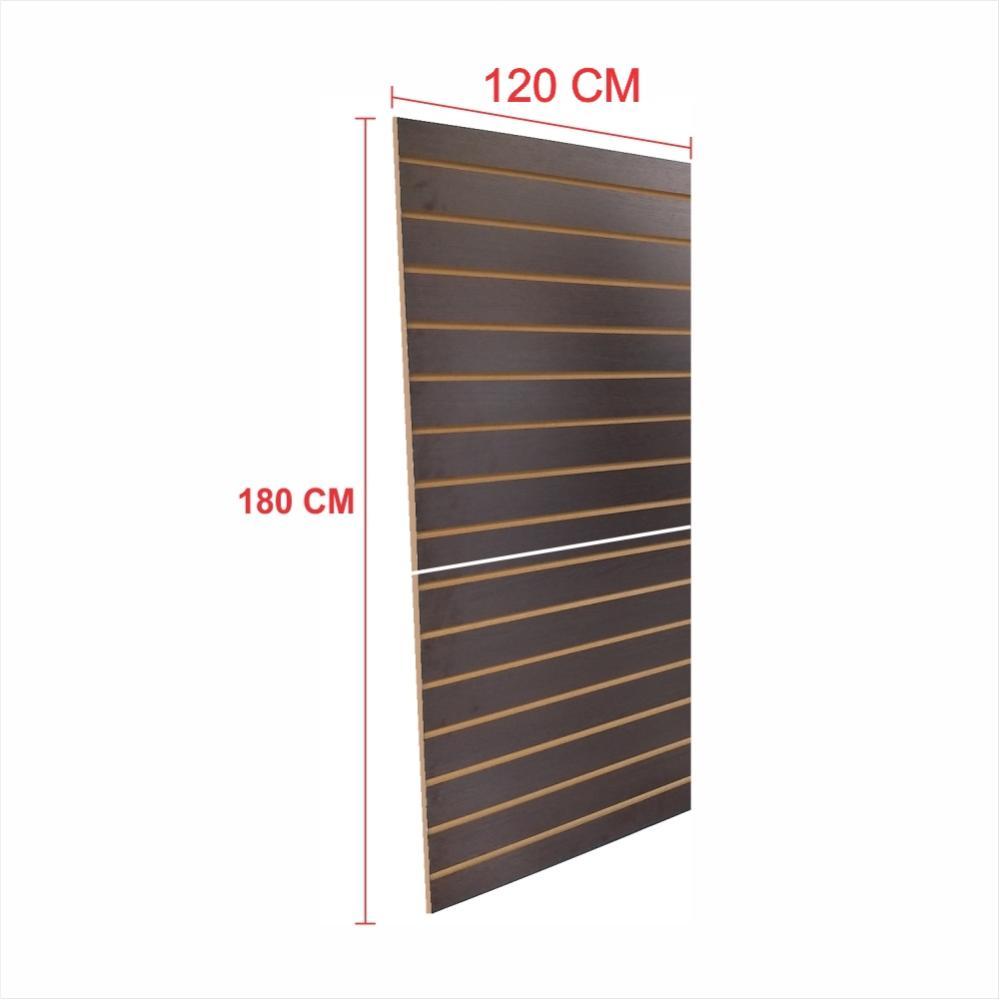 Expositor painel canaletado 18mm preto altura 180 cm comp 120 cm