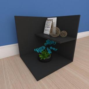 Estante de Livros moderno minimalista em mdf preto