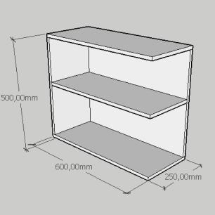 Kit com 2 Mesa de cabeceira simples moderna em mdf amadeirado