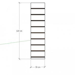 Painel canaletado para pilar preto 1 peça 30(L)x120(A)cm