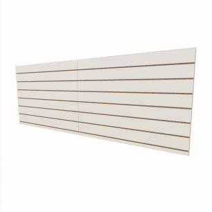 Expositor canaletado 18mm Branco Texturizado altura 90 cm comp 240 cm