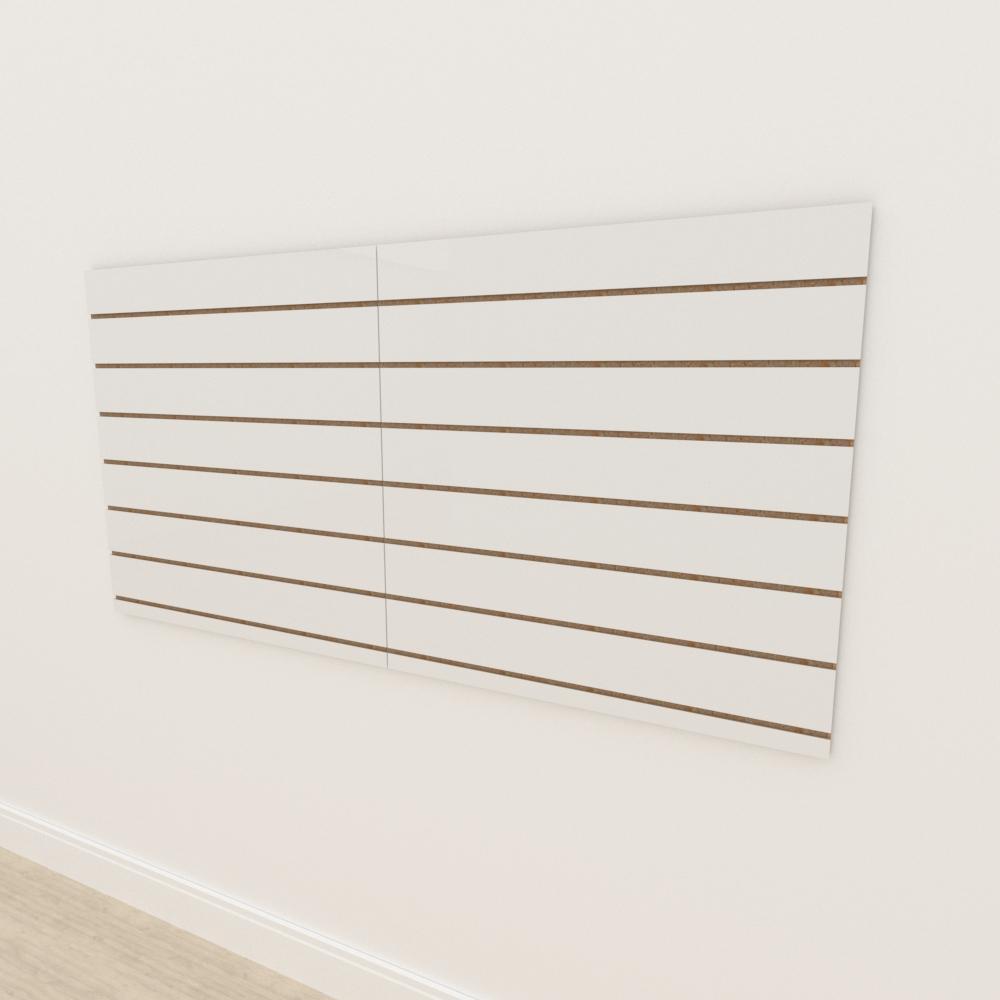 Painel canaletado 18mm Branco Texturizado altura 90 cm comp 180 cm