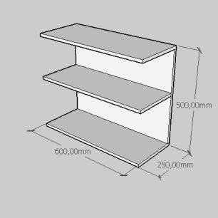 Mesa Lateral minimalista moderna em mdf branco