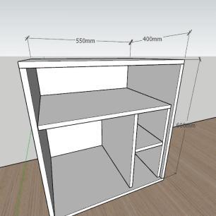 Mesa lateral para sofá formato S minimalista em mdf Branco