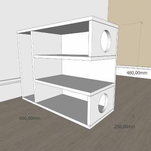Mesa Lateral para sofá slim com 3 niveis em mdf Branco