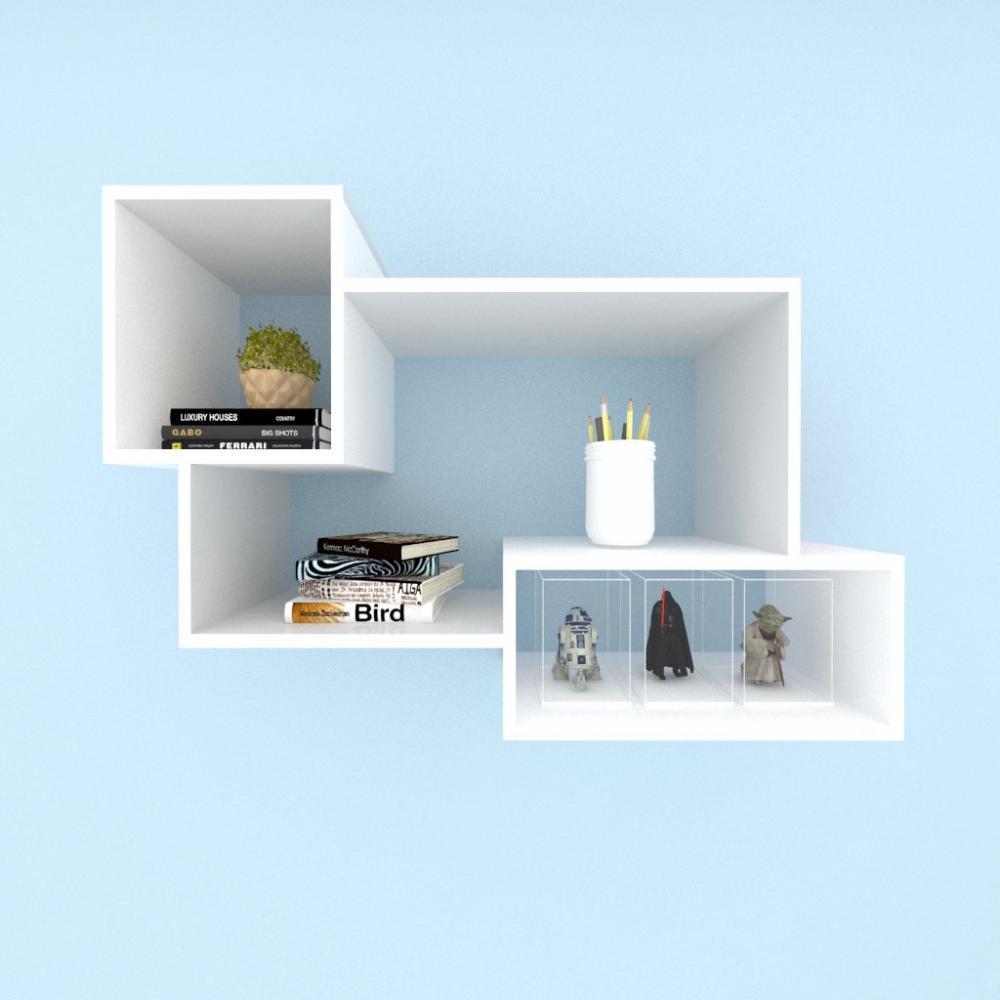 Kit de Nichos multi uso mdf cinza com branco
