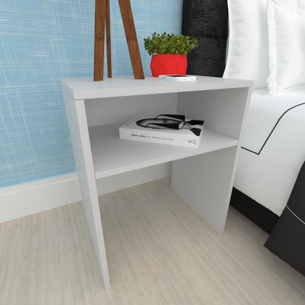 Mesa lateral sofá, mesa de canto, em mdf Cinza