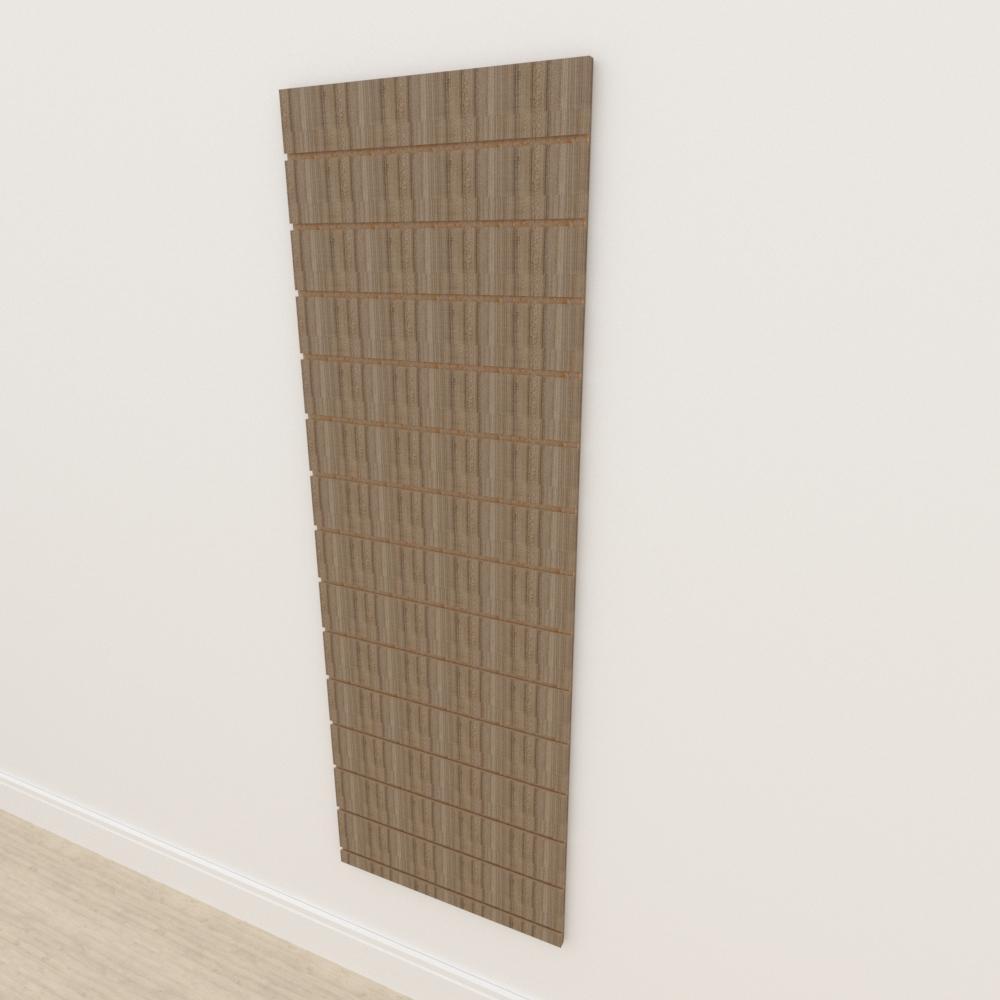 Painel canaletado 18mm amadeirado escuro altura 180 cm comp 60 cm
