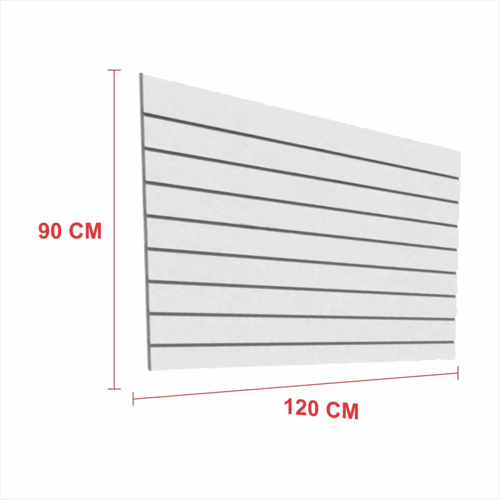 Painel canaletado 18mm cinza altura 90 cm comp 120 cm