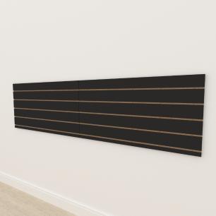Painel canaletado 18mm Preto Texturizado altura 60 cm comp 240 cm