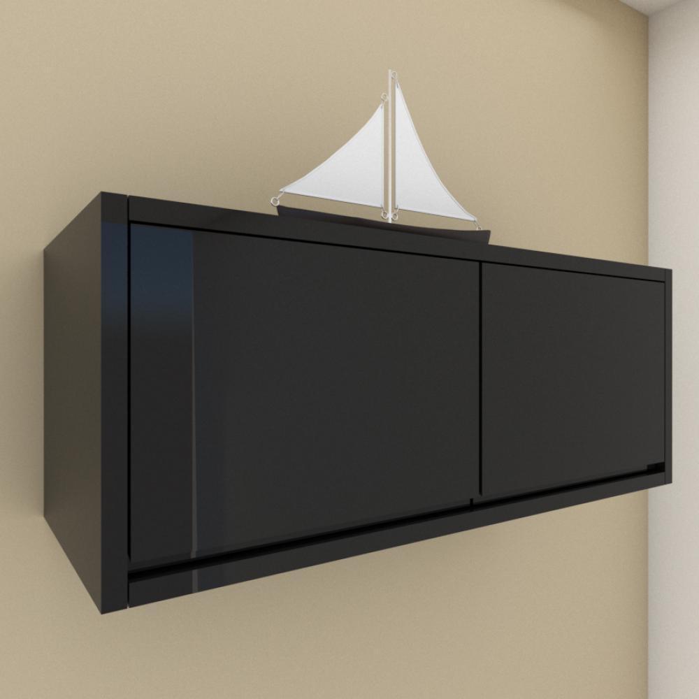 A01 Armario para cozinha ou banheiro preto