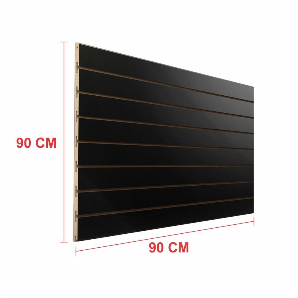Painel canaletado 18mm preto altura 90 cm comp 90 cm